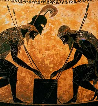 Achilles and Ajax playing dices